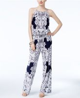INC International Concepts Petite Lace-Print Jumpsuit, Only at Macy's
