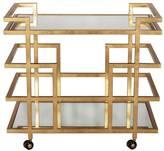 Worlds Away Ireland Gold Leaf Linear Bar Cart