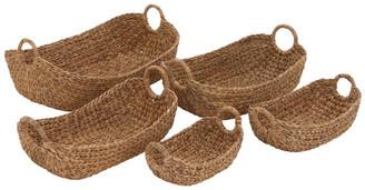 Uma Enterprises Coastal Living Seagrass Baskets, 5-Piece Set, Multi-Color
