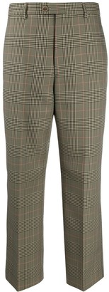 Maison Margiela Cropped Checked Trousers