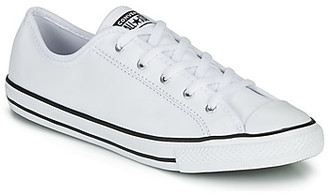 Converse CHUCK TAYLOR ALL STAR DAINTY GS LEATHER OX women's Shoes (Trainers) in White