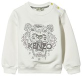Kenzo White Metallic Embroidered Tiger Sweatshirt