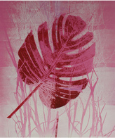 """Serena & Lily """"Pink Leaf, Nature Print"""" by Seymour Tubis"""