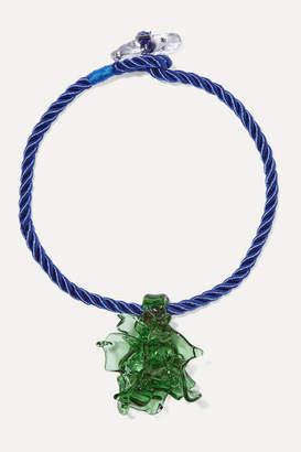 Maryam Nassir Zadeh Poseidon Glass And Cord Necklace - Green