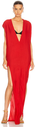 Rick Owens Arrowhead Dress in Cardinal Red | FWRD