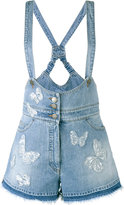 Valentino butterfly appliqué dungarees - women - Cotton/Polyester/Viscose - 26