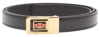 Gucci Logo-plaque Leather Belt - Black