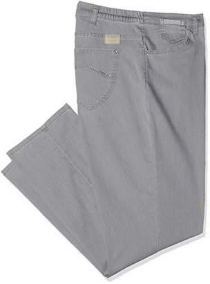 Raphaela by Brax Women's CORRY FAY|Fame| Comfort Plus Straight Leg Straight Jeans, Gray (Gray 4), W36/L32, 20R (Manufacturer Size: 46)