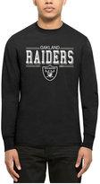 '47 Men's Oakland Raiders Double Option Splitter Long-Sleeve T-Shirt