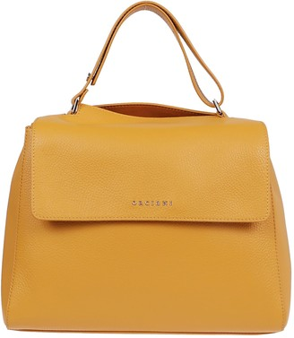 Orciani Orange Leather Bag