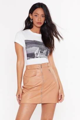 Nasty Gal Womens All I Faux Leather Wanted Mini Skirt - Pink - 8
