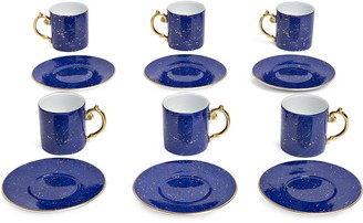 L'OBJET Lapis espresso cups and saucers (set of 6)
