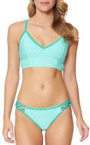 Jessica Simpson Woodstock Solids Camisole-Style Bikini Top