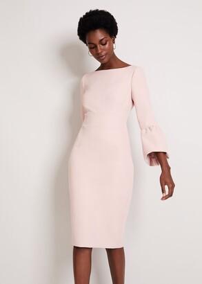 Phase Eight Elin Fluted Sleeve Dress