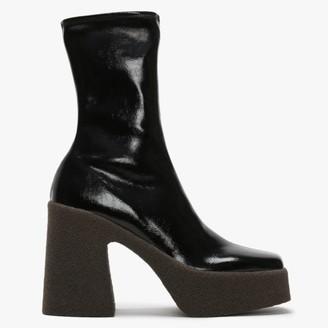 Stella McCartney Chunky Black Platform Ankle Boots