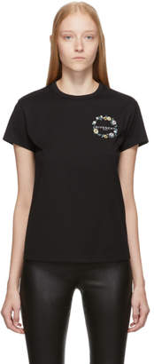 Givenchy Black Floral Embroidered T-Shirt