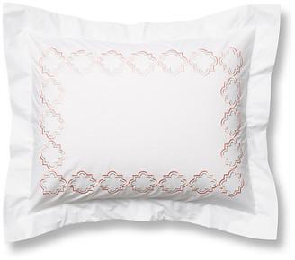 Hamburg House Quatrefoil Sham - White/Pink Standard