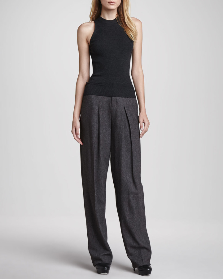 Theyskens' Theory Piere Inverted-Pleat Pants