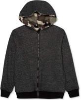 JEM Full-Zip Fleece Reversible Hoodie, Big Boys
