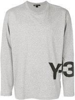 Y-3 logo print sweatshirt - men - Cotton - S