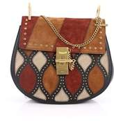 Chloé Pre-owned: Drew Crossbody Bag Studded Patchwork Suede With Leather Small.