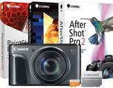 Canon PowerShot SX720 HS 20.3MP Digital Camera with 16GB MicroSD EVO Memory Card and Digital Creative Suite 2.0 - Black