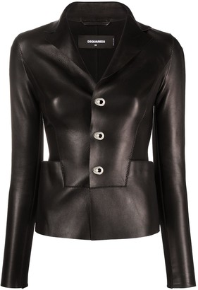 DSQUARED2 Panelled Leather Blazer