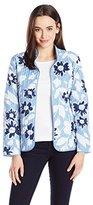 Alfred Dunner Women's Floral Quilt Jacket