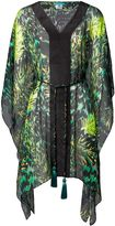 Matthew Williamson Tiger Palm Emerald Silk Kaftan