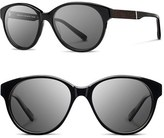 Shwood Women's 'Madison' 54Mm Round Sunglasses - Black/ Ebony/ Grey