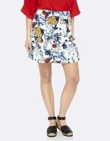 Oxford Viola Floral Printed Skirt