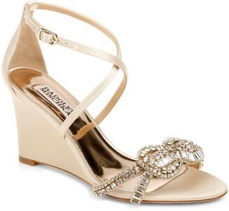 Badgley Mischka Zabrina Embellished Wedge Sandal