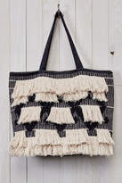 Love Stitch Fringe Tapestry Tote
