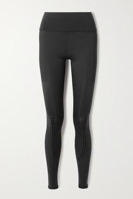 adidas by Stella McCartney Perforated Stretch Leggings - Black