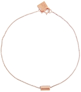 ginette_ny Mini Straw Bracelet - Rose Gold