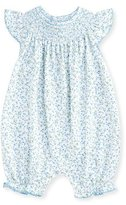 Kissy Kissy Spring Meadow Printed Pima Playsuit, Blue, Size 3-18 Months