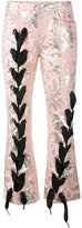 Marques Almeida Marques'almeida - lace-up jacquard trousers - women - Cotton/Polyester/Acetate/Metallized Polyester - M