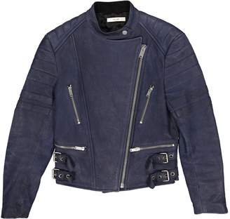 Celine Blue Leather Jackets
