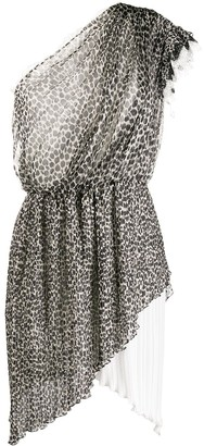 Philosophy di Lorenzo Serafini Leopard Print Asymmetric Dress