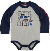 Carhartt Gray Heather Tool Set 'Mr. Fix It' Raglan Bodysuit - Infant