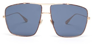 Christian Dior Diormonsieur2 Aviator Metal Sunglasses - Tortoiseshell