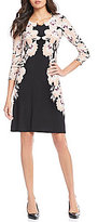 Calvin Klein Mirror Image Floral Print Matte Jersey Shift Dress