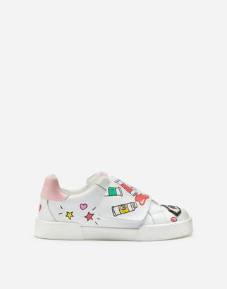 Dolce & Gabbana Portofino Sneakers With Tempere Print