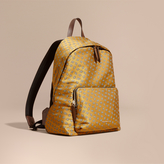 Burberry Leather Trim Abstract Jacquard Backpack