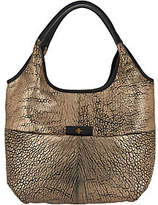 Oryany Metallic Lamb Leather Tote Handbag -April