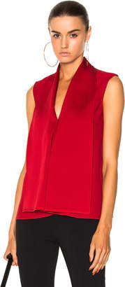 Victoria Beckham Satin Back Crepe Sleeveless Blouse in Red | FWRD