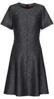 HUGO A-line dress in sparkling fabric with visible zip