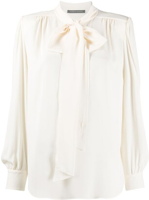Alberta Ferretti Bow Detail Long-Sleeved Blouse
