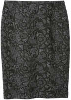 Joe Fresh Women's Print Pencil Skirt, Black (Size S)