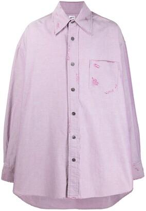 Marni Oversized Distressed Shirt